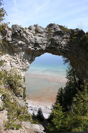 Arch Rock at Mackinac Island